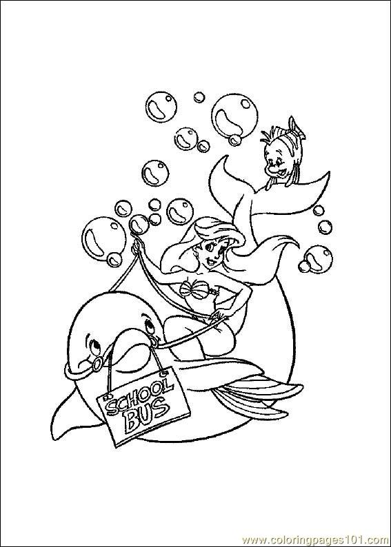 Little_Mermaid Coloring Page
