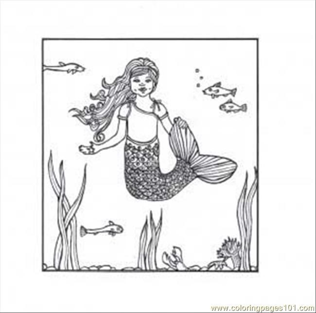 Mermaid Coloring Page  Coloring Page