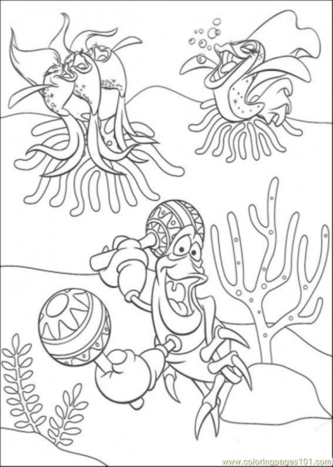Sebastian And Friends Are Singing Coloring Page Free The Little