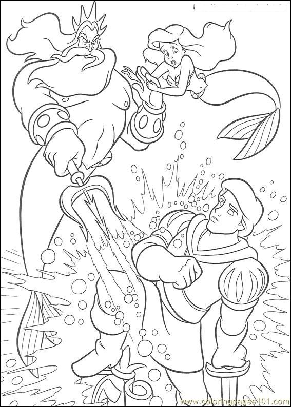 Thelittlemermaid 19 Coloring Page