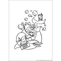 Little_Mermaid Free Coloring Page for Kids