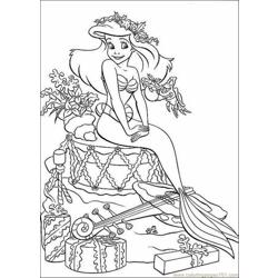 Mermaid Coloring Pages 003