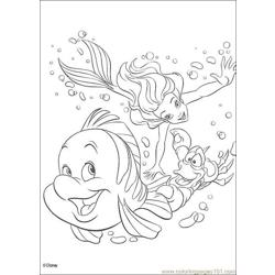 Thelittlemermaid 03 Free Coloring Page for Kids