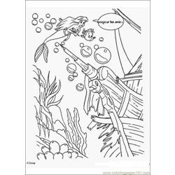 Thelittlemermaid 09 Free Coloring Page for Kids