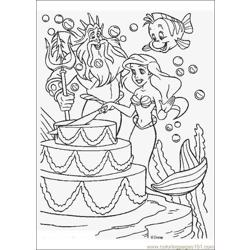 Thelittlemermaid 12 Free Coloring Page for Kids