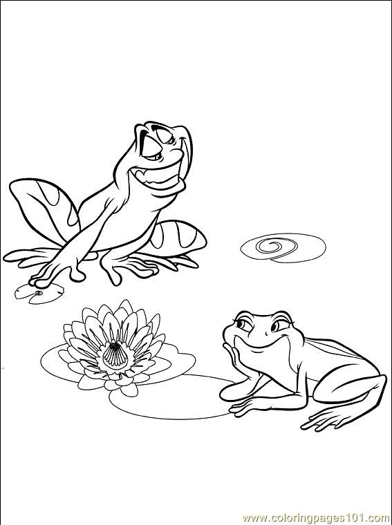 Princess Frog 007 4 Coloring Page Free The Princess And The