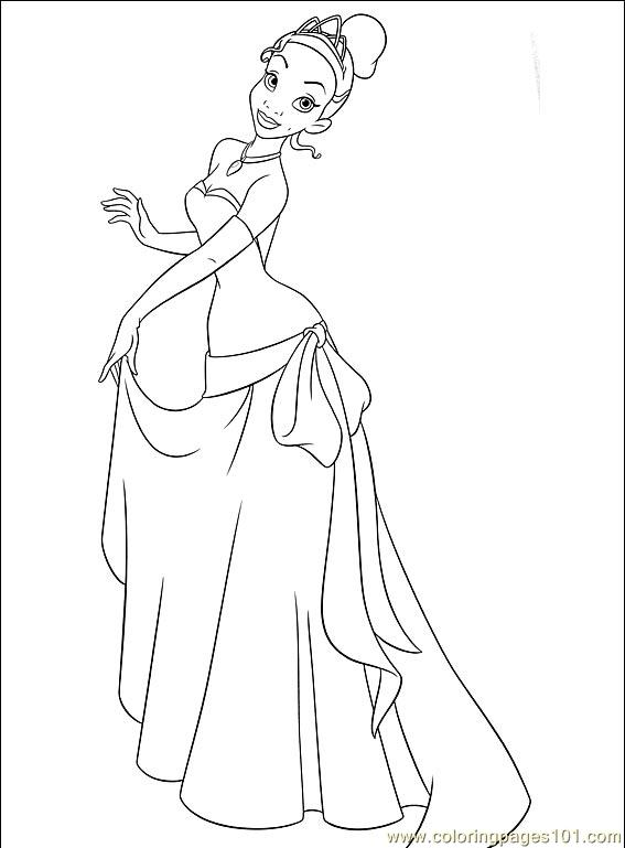 princess tiana waving hand in and the frog coloring pages
