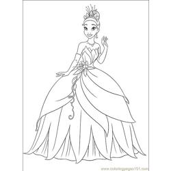 Princess Frog 007 (3) Free Coloring Page for Kids
