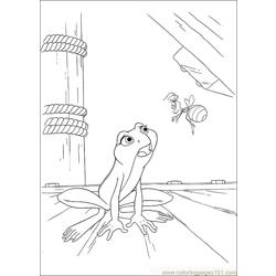 Princess Frog 51 Free Coloring Page for Kids