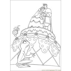 Princess Frog 52 Free Coloring Page for Kids
