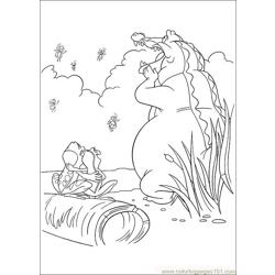 Princess Frog 57 Free Coloring Page for Kids