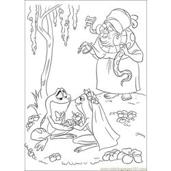 Princess Frog 58 Free Coloring Page for Kids
