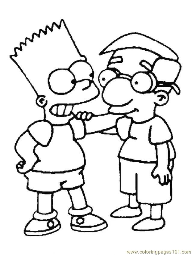 Simpsons (2) Coloring Page