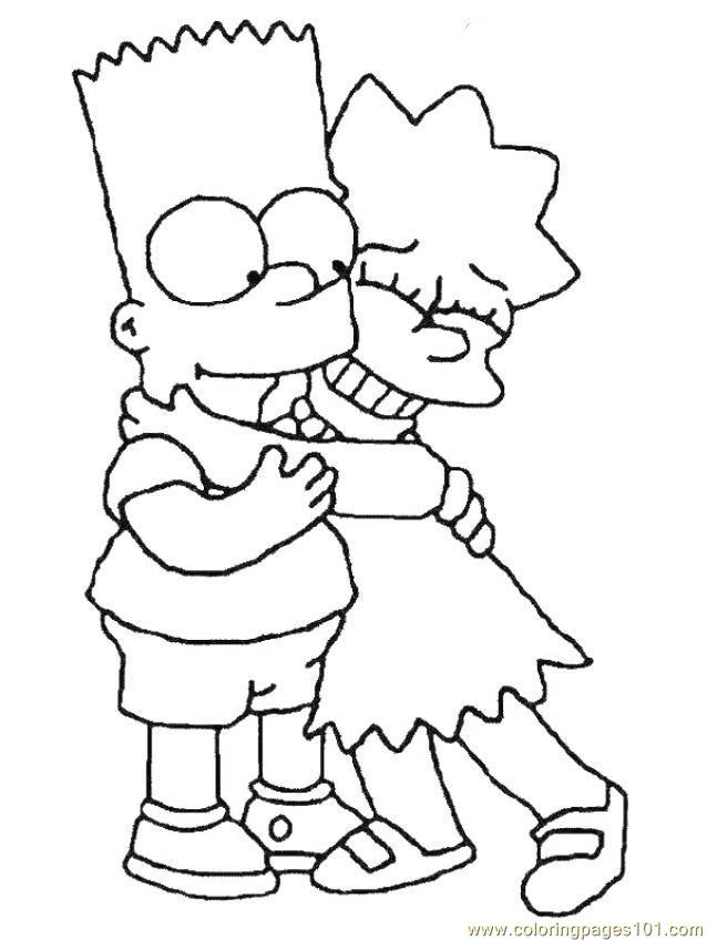 simpsons coloring page - Simpsons Halloween Coloring Pages