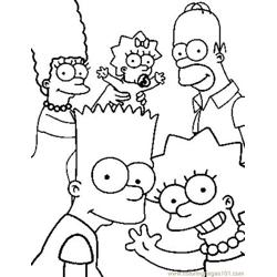 Simpsons Free Coloring Page for Kids