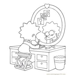 Simpsons (13) Free Coloring Page for Kids