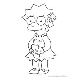 Simpsons (15) Free Coloring Page for Kids