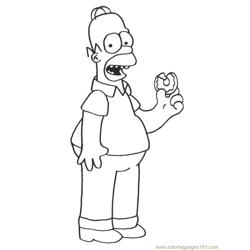 Simpsons (21) Free Coloring Page for Kids