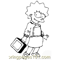The Simpsons 022 Free Coloring Page for Kids