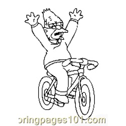 The Simpsons 025 Free Coloring Page for Kids