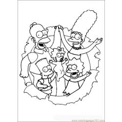 Thesimpsons 02 Free Coloring Page for Kids