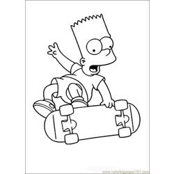 Thesimpsons 08 Free Coloring Page for Kids