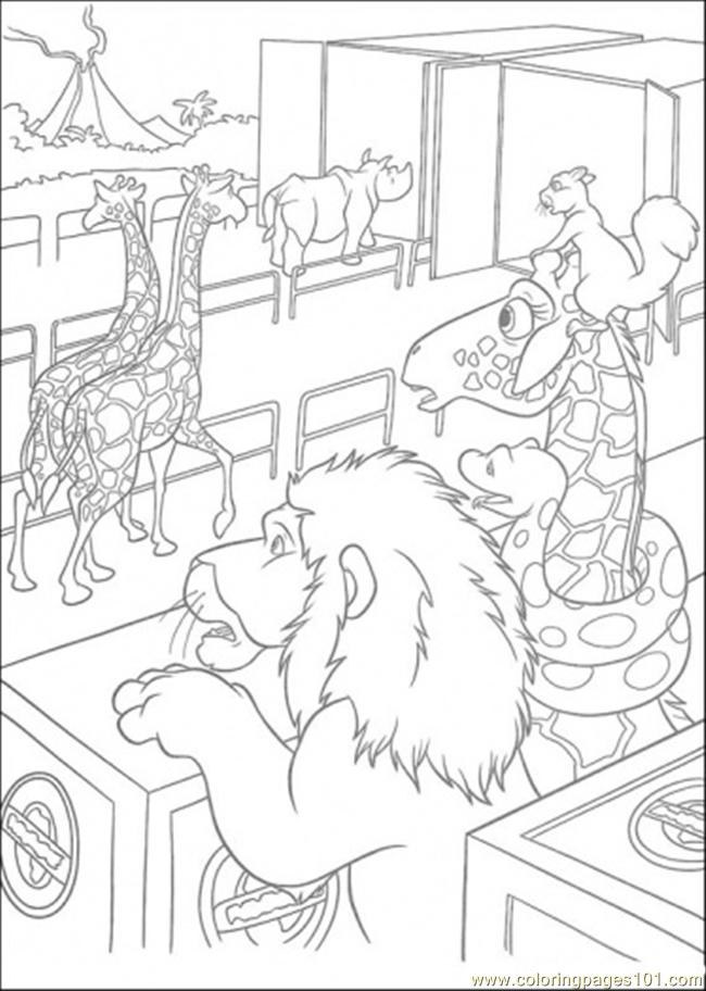 Samson Benny Larry And Bridget Are Looking At The Animals Coloring Page