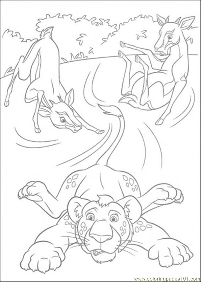 Two Deers Are Playing With Ryan Coloring Page - Free The ...
