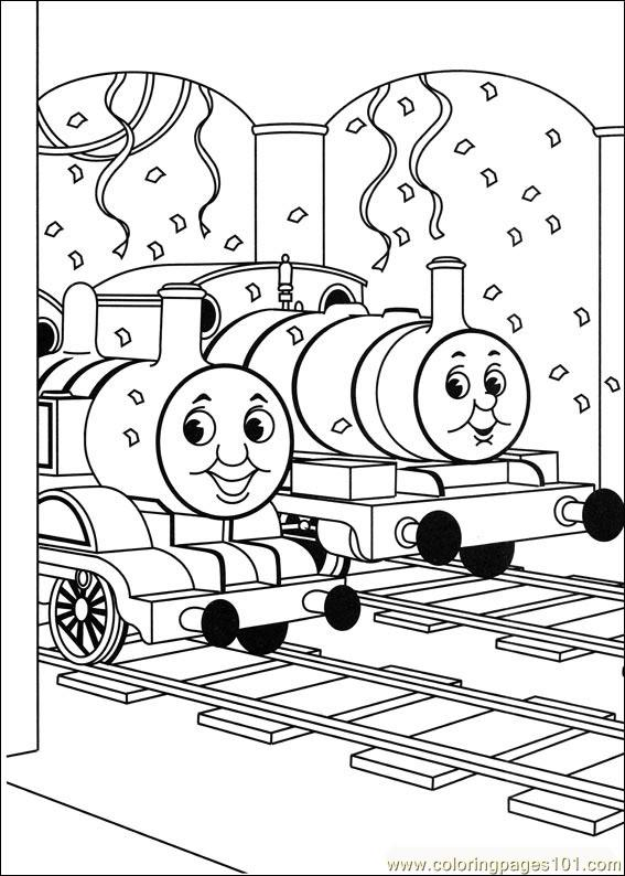 Thomas And Friends 03 Coloring Page