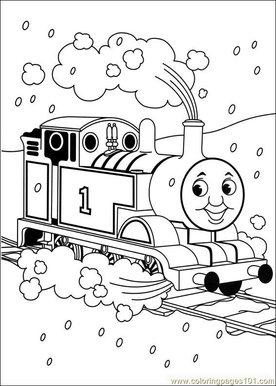 Thomas And Friends 04 Coloring Page