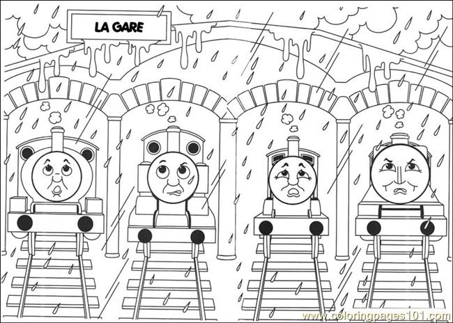thomas and friends 10 coloring page - Thomas Friend Coloring Pages