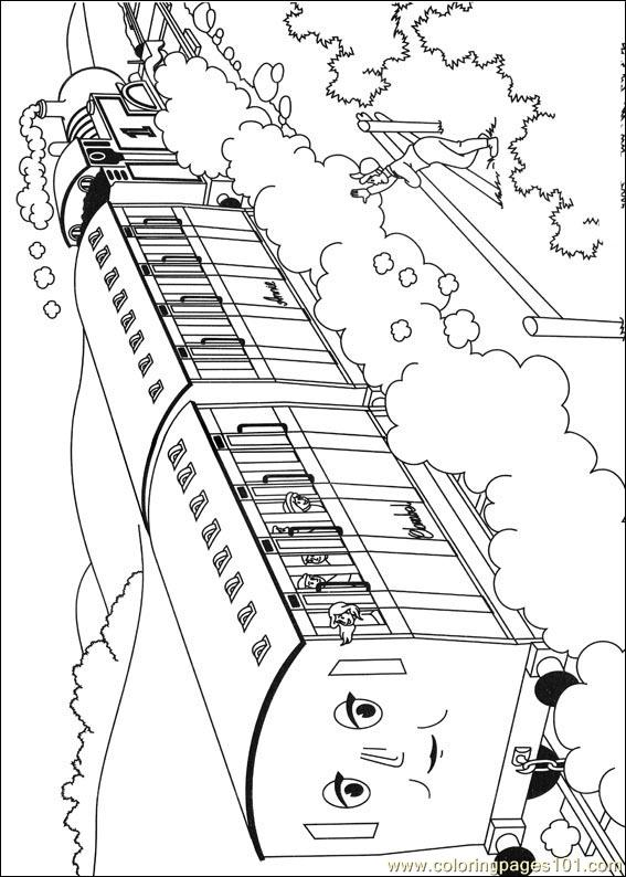 Thomas And Friends 12 Coloring Page