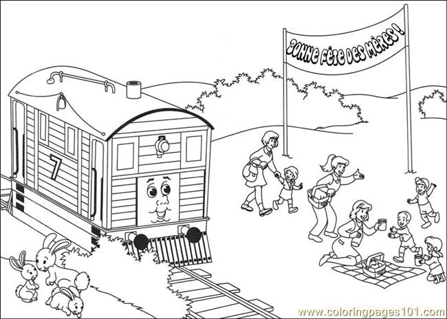 thomas and friends 17 coloring page