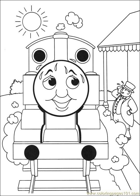Thomas And Friends 25 Coloring Page