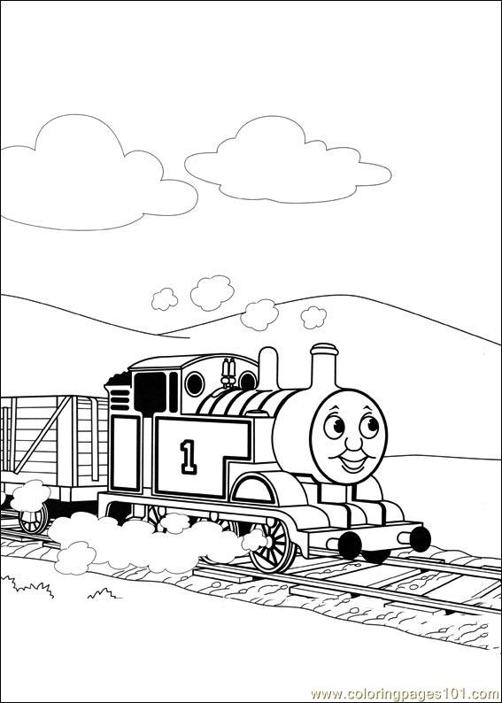 Thomas And Friends 48 Coloring Page