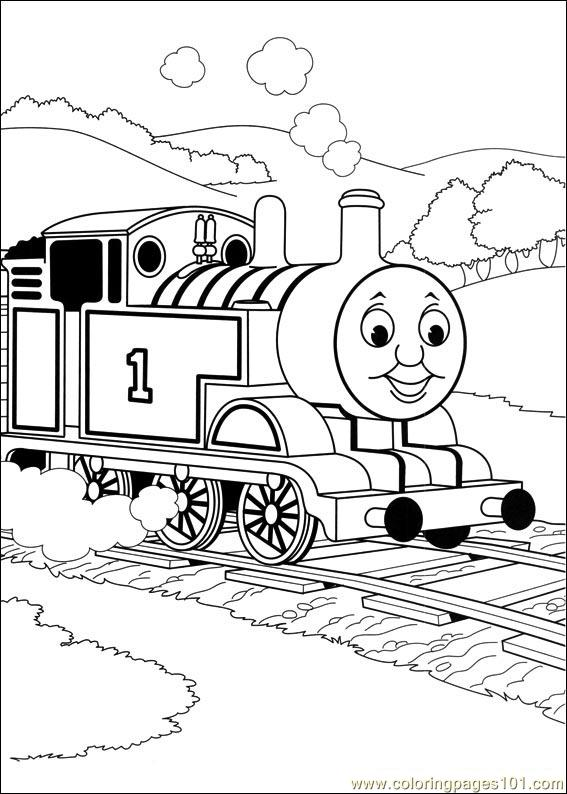 thomas and friends 50 coloring page