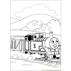 Thomas And Friends 44 Free Coloring Page for Kids