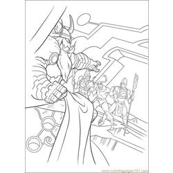 Thor 13 coloring page