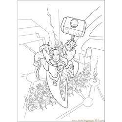 Thor 15 coloring page