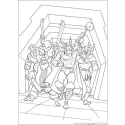 Thor 21 coloring page
