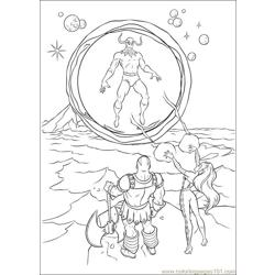 Thor 25 coloring page