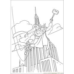 Thor 28 coloring page