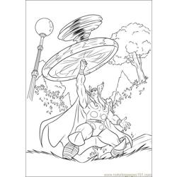 Thor 29 coloring page