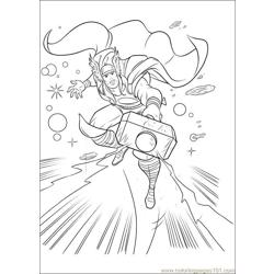 Thor 34 coloring page