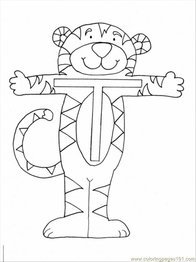 20 Normal T Tiger Coloring Page