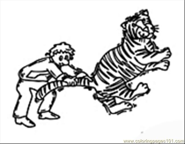 46 Tiger05 Coloring Page