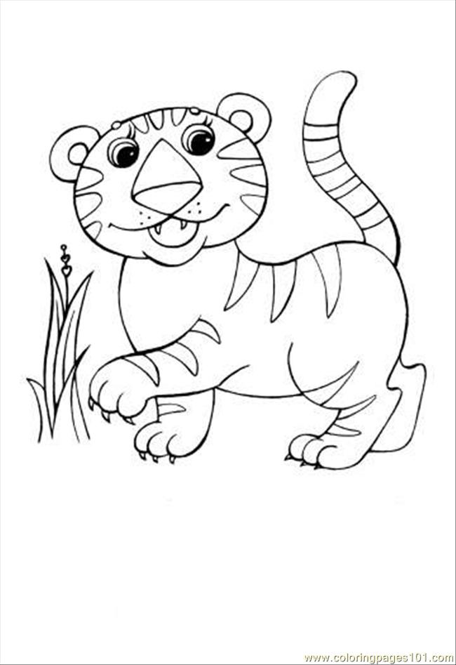 Leopard Coloring Page Coloring Page Free Tiger Coloring Pages Coloringpages101 Com