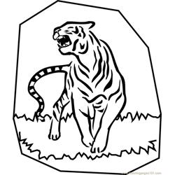 Tiger new 45 coloring page