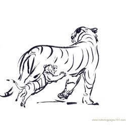 Tiger new 42 coloring page