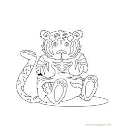 Tiger new 49 coloring page